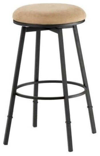 Phenomenal Bowery Hill 24 30 Adjustable Backless Stool In Black And Bear Uwap Interior Chair Design Uwaporg