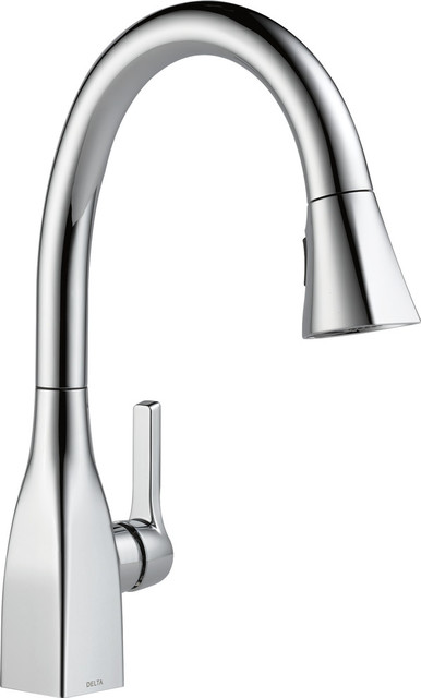 Delta Mateo Single-Handle Pull-Down Kitchen Faucet, Polished Chrome.