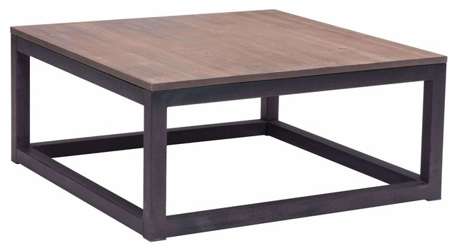 Attirant Civic Center Square Coffee Table, Distressed Natural