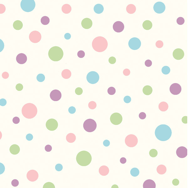 Dotty Pink Polka Dot Toss Wallpaper Wallpaper Bolt