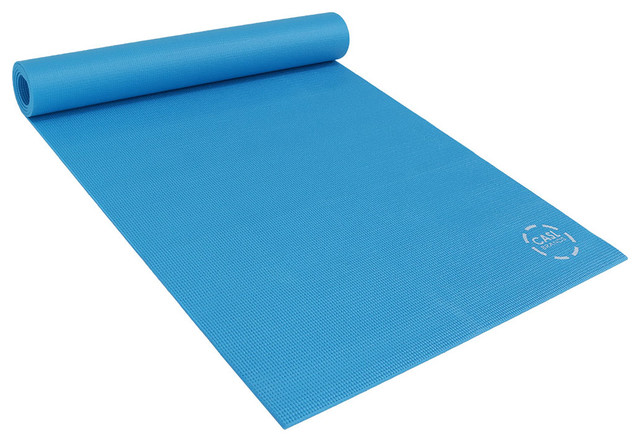 Casl Brands High Density Yoga Exercising Mat With Pvc Foam Construction Contemporary Home Gym Equipment By Serenity Health Decor