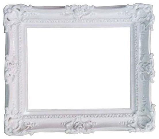 Decorative Baroque Style White Frame Traditional