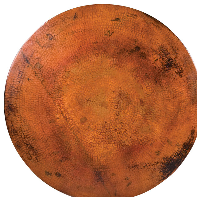 "Round Copper Table Tops, 54""'x18"""
