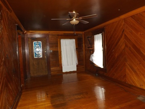 lighten look of dark wood room in 1920s cottage without painting wood. Black Bedroom Furniture Sets. Home Design Ideas