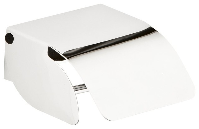 dot chrome toilet roll holder with cover