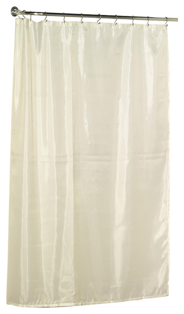 Carnation Home Extra Long 96 Polyester Fabric Shower Curtain Liner