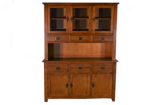 Quarter Sawn Oak China Cabinet Hutch