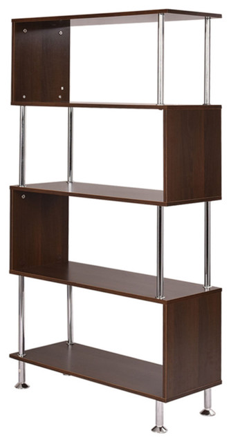 4 Shelf Bookcase Wooden Bookshelf Storage Display.