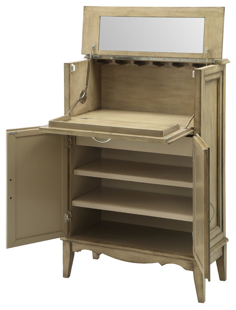 Two Door Drop Lid Bar Cabinet - Wine And Bar Cabinets - by Coast to Coast Imports, LLC