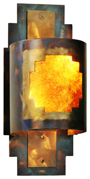 Rustic Wall Sconce Posada Southwest Indoor / Outdoor Light southwestern-outdoor-wall  sc 1 st  Houzz & Rustic Wall Sconce Posada Southwest Indoor / Outdoor Light ... azcodes.com