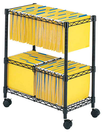 Safco 2 Tier Rolling File Cart - Contemporary - Filing Cabinets - by Harvey & Haley
