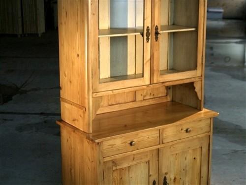 Barn Wood 2 Door Glass Hutch