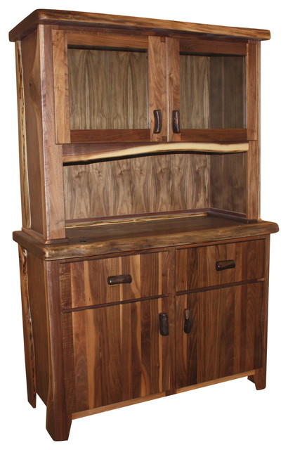 Walnut Hutch - Rustic - China Cabinets And Hutches - by treemendous designs