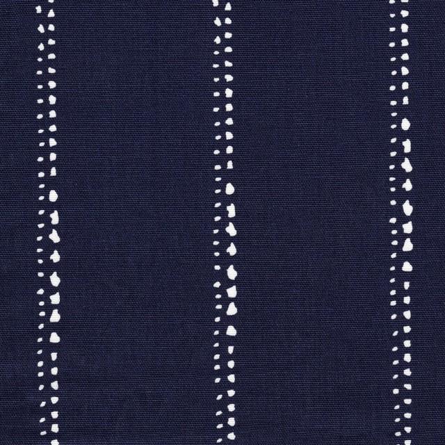 Empress Swag Valance Carlo Vintage Indigo Blue Dot Stripe Lined Cotton.