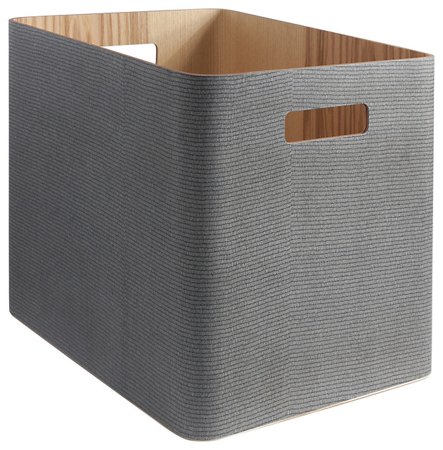 Arigatoe Wooden Storage Unit, Gray.