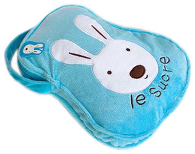 "Sugar Rabbit, Blue, Throw Blanket Pillow Cushion, 25.2""x37"" modern-decorative-pillows"