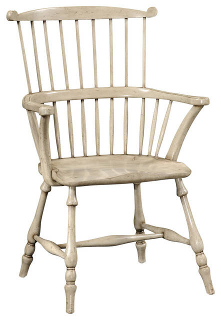 Jonathan Charles Gray Painted Windsor Arm Chair