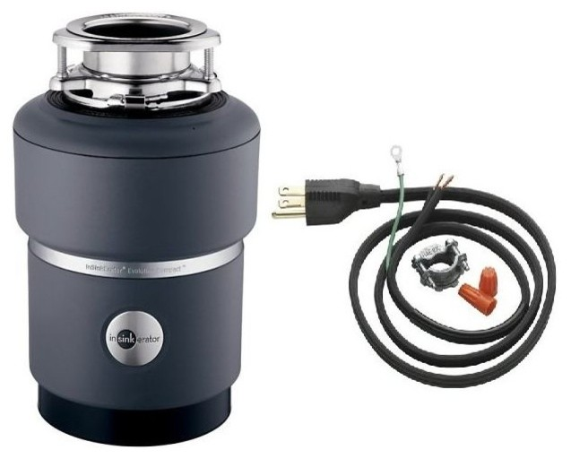 Insinkerator Compact Evolution 3/4 HP Garbage Disposer With Cord