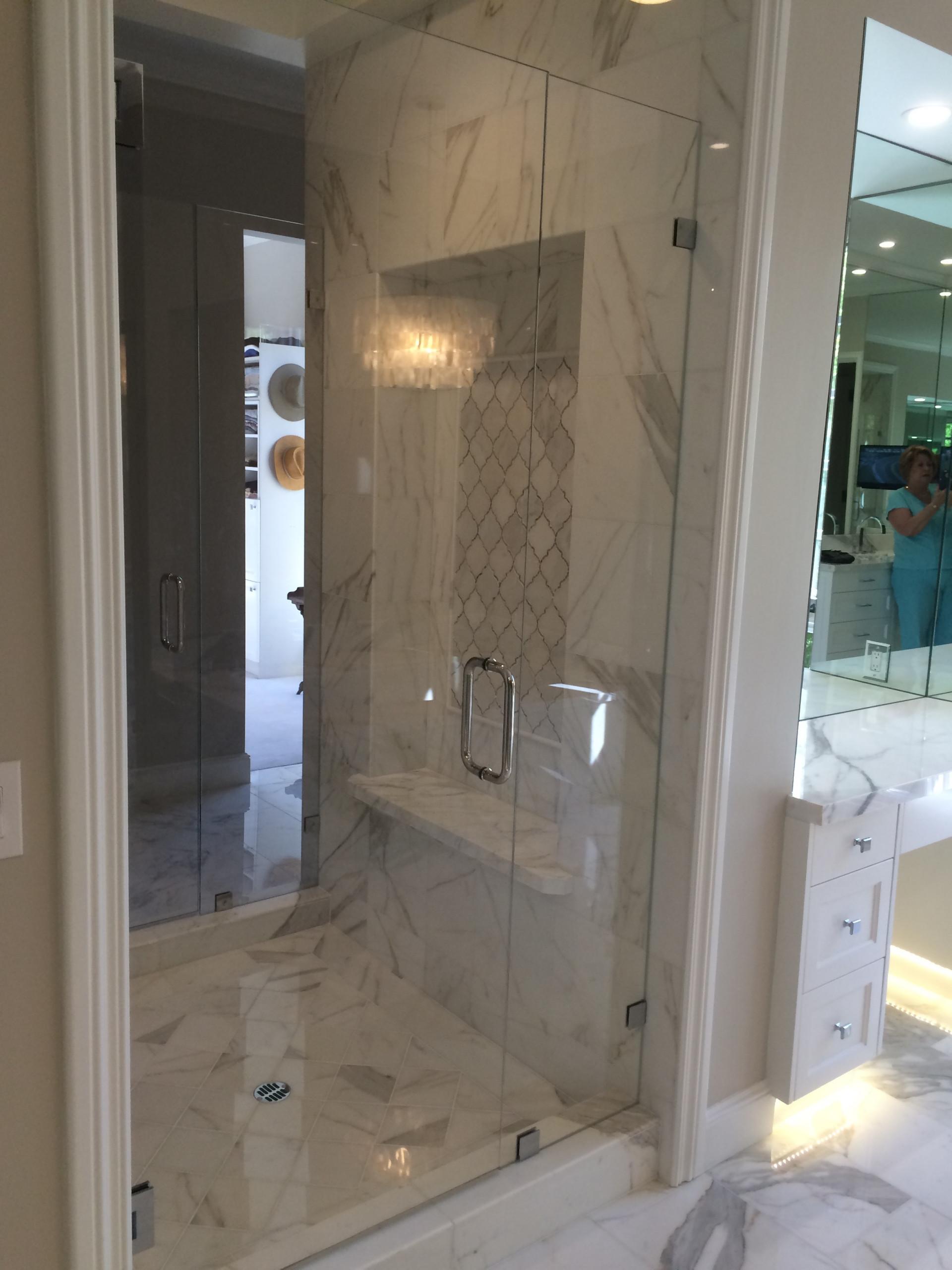 Pasadena Calcutta Gold Marble Bathroom