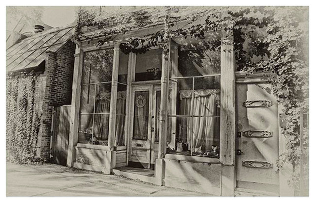 """Old Storefront"" Digital Drawing by Dennis Granzow, Giclee Print - Midcentury - Artwork - by ..."