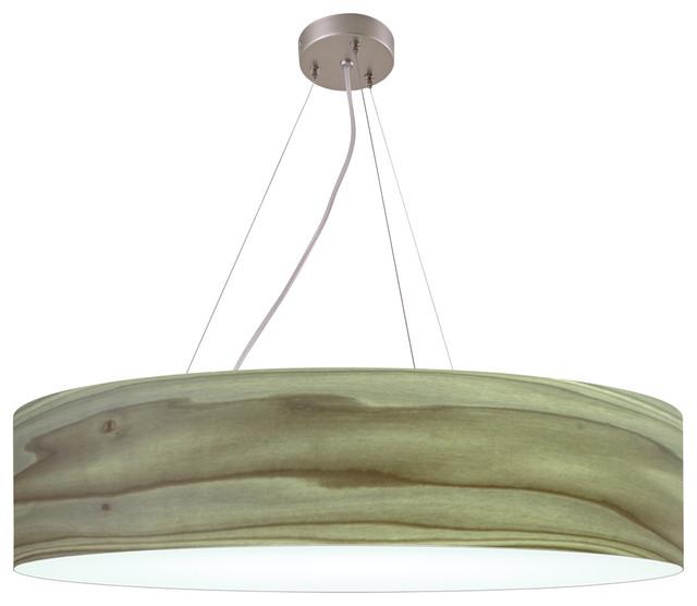 Icono Lighting Drumxl Series Pendant Lamp, Gray, Medium.