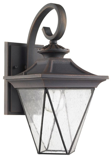 Rustic Exterior Wall Sconces : Farnsworth 1 Light Rustic Outdoor Wall Sconce - Traditional - Outdoor Wall Lights And Sconces ...
