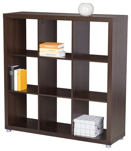 3x3 room divider or bookshelf caro walnut decor for Room design 3x3