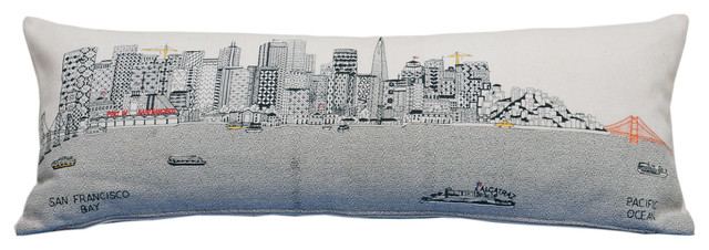 San Francisco Skyline Cushion, Day, King
