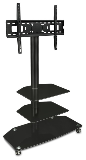 Tv Cart Mobile Tv Stand Wheeled Flat Screen Television Stands