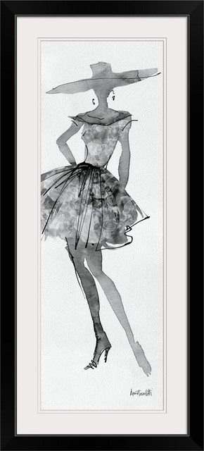 Fashion Sketchbook V Black Framed Art Print Contemporary Prints And Posters By Great Big Canvas