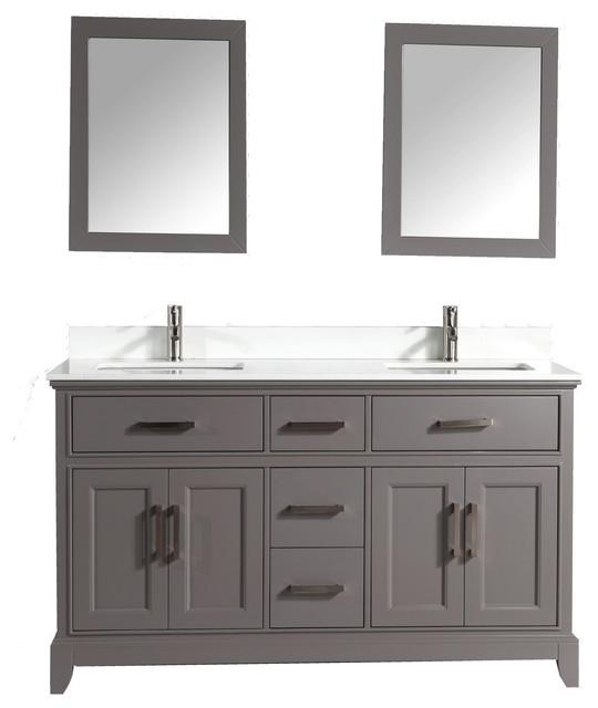 Antoinette Bathroom Vanity With Phoenix Stone Top Gray 72