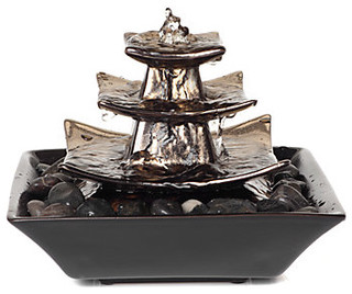 Pagoda Fountain Modern Indoor Fountains By Z Gallerie
