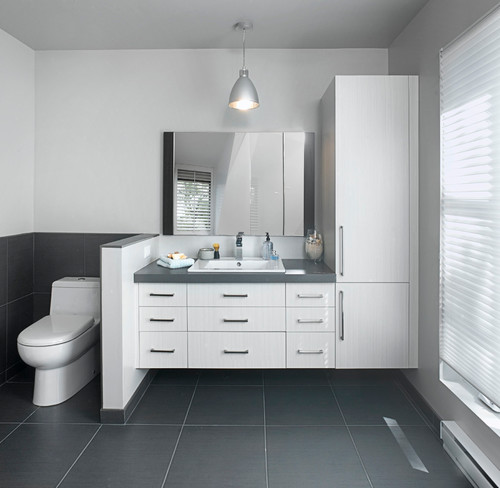 Quelle couleur choisir pour sa salle de bain for Couleur meuble salle de bain carrelage gris