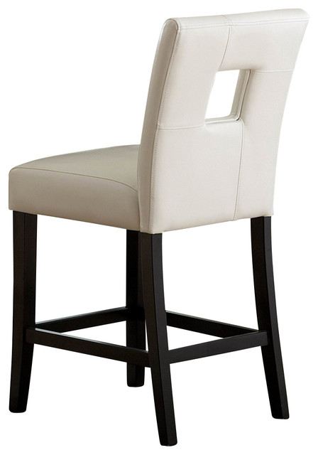 Homelegance Archstone Counter Height Chairs With White Bi