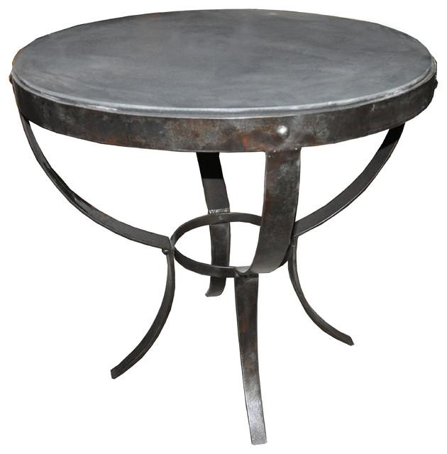 Charmant Byron Side Table, Metal And Stone