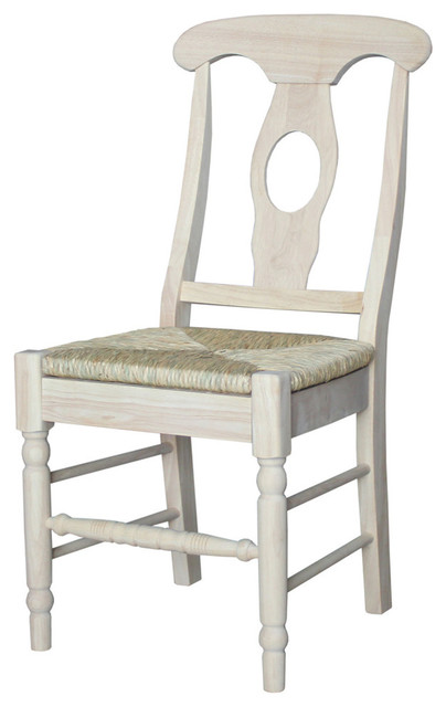Mason Empire Chairs With Rush Seats, Set Of 2
