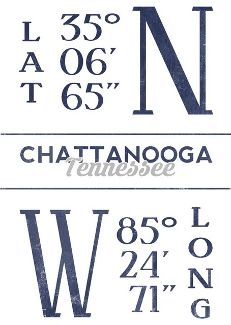 Chattanooga tennessee latitude and longitude blue print chattanooga tennessee latitude and longitude blue print contemporary prints malvernweather Images