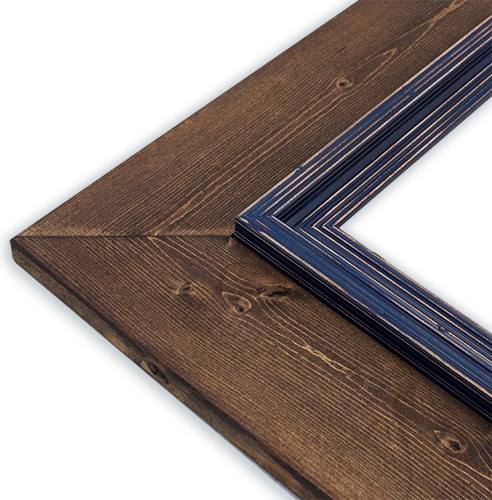 "Cheyenne Midnight Blue Picture Frame, Solid Wood, 16""x20"""