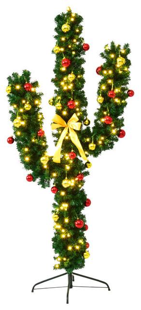 Cactus Christmas Tree.Seasonal Decor Home Kitchen Goplus Pre Lit Artificial