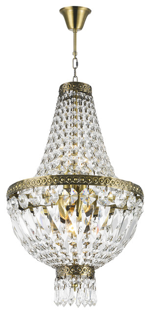 Glamorous 5 light antique bronze finish with full lead crystal glamorous 5 light antique bronze finish with full lead crystal chandelier aloadofball Image collections