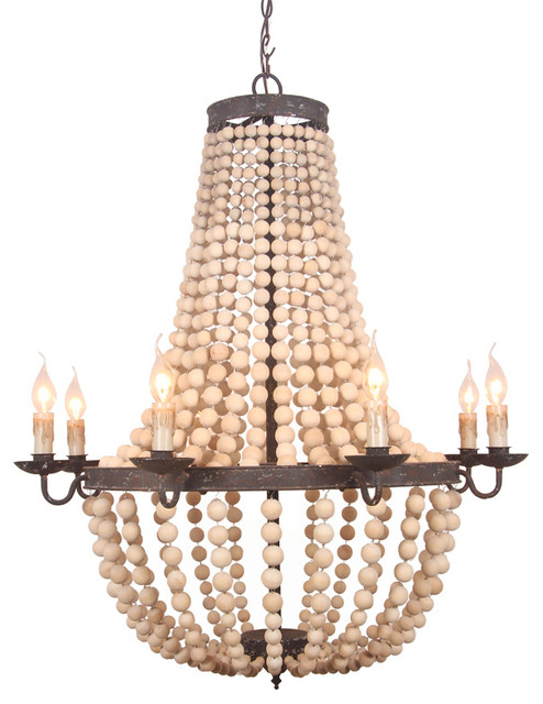Terracotta designs gabriella wood beaded chandelier houzz terracotta designs gabriella wood beaded chandelier houzz exclusive traditional chandeliers aloadofball Image collections
