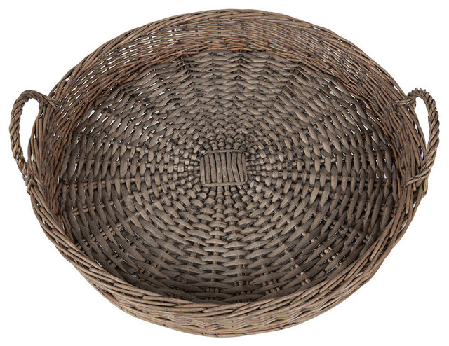 20 Quot Round Willow Tray Farmhouse Serving Trays By Kaf