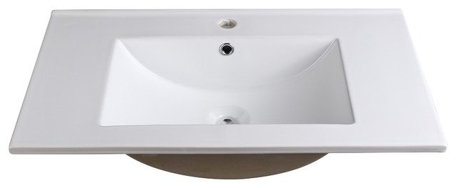 "Fresca Torino 30"" White Integrated Sink/countertop."