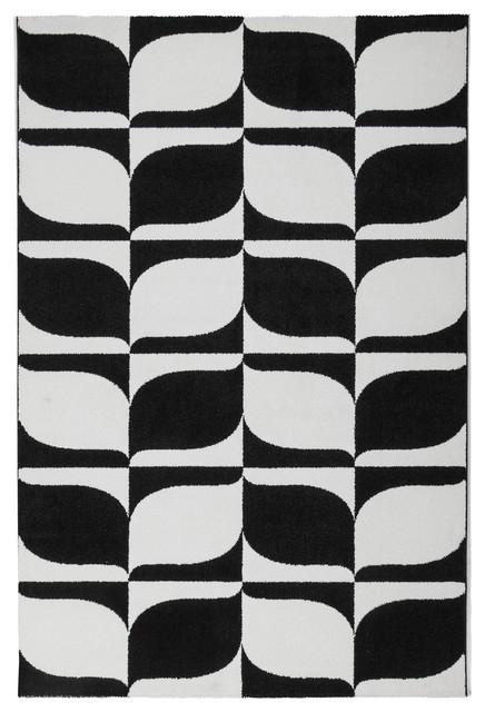 Modern Leaf Floor Rug, 120x170 cm
