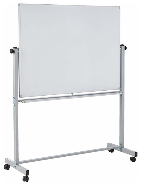 "Offex Mobile Dry Erase  Magnetic Double-Sided White Board - 48""W x 36""H"