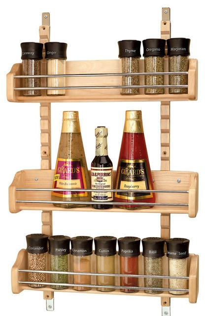 rev a shelf adjustable door mount spice rack natural. Black Bedroom Furniture Sets. Home Design Ideas