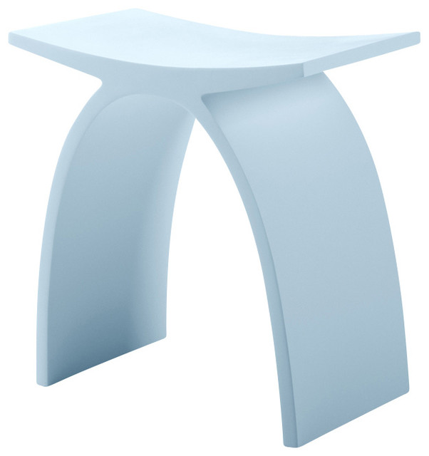 ADM Matte White Stone Resin Bathroom Stool contemporary-shower-benches-and-seats  sc 1 st  Houzz & ADM Matte White Stone Resin Bathroom Stool - Contemporary - Shower ... islam-shia.org