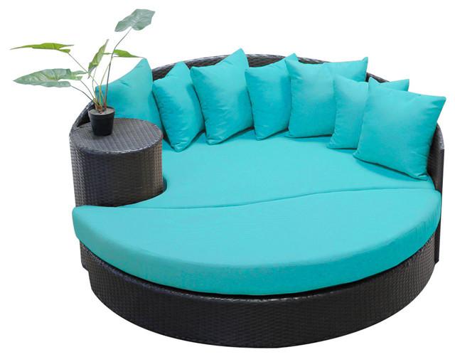 Newport Circular Sun Bed, Aruba Tropical Outdoor Lounge Chairs