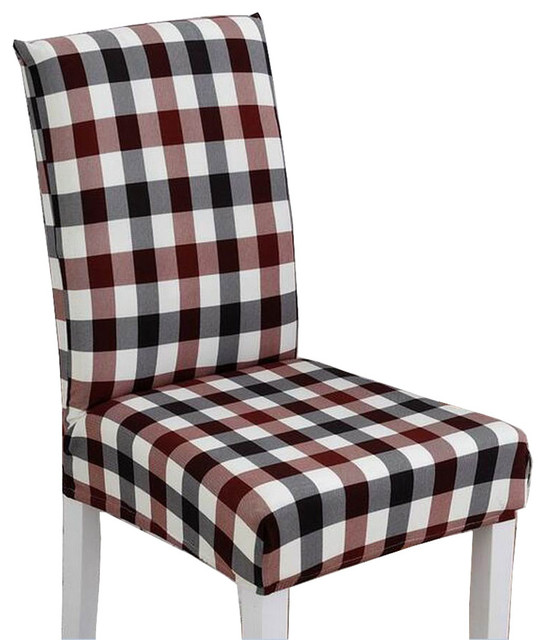 Dining Room Chair Cushion Covers: Plaid Stylish Dining Chair Slipcover Chair Cover Chair
