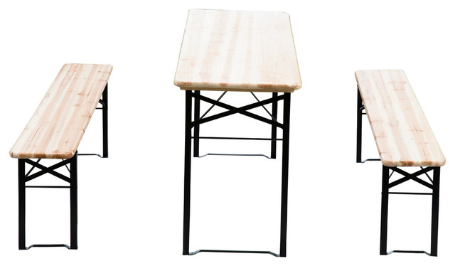 Burgaw 3 Piece Folding Picnic Table Set
